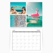 Calendar 8.5 x 11 Spiral Bound - 2021 Freestyle