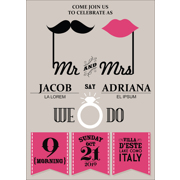 Retro - 1 Sided Invitation  5x7