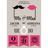 Retro - 1 Sided Invitation
