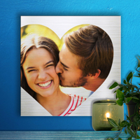 12 x 12 Heart Collage Metal Print - 1 photo