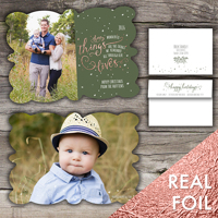 Snow Flurries<br>5x7 Milan Foil<br>Envelope