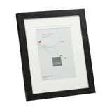 6 x 4 Inch Matted Photo + Frame (BLACK)