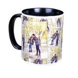 11 oz. Tiled Ceramic Black Photo Mug