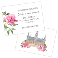 Pink Peonies<br>2.5x3.5 Insert #2<br>Double Sided