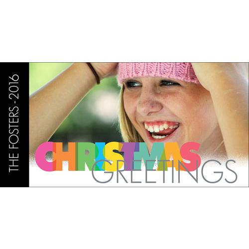 Rainbow Christmas Greetings - A