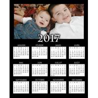 Calendrier vertical 1 page 2017 - 8 x 10 (français)