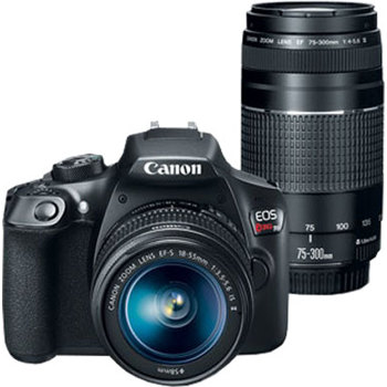 Canon Eos Rebel T6 With Ef S 18 55 Is Ii And Ef 75 300mm Iii Lenses