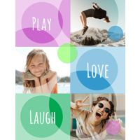 11 x 14inch  Circles & Squares Collage Photo Print