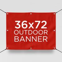 """36"""" x 72"""" Outdoor Banner"""