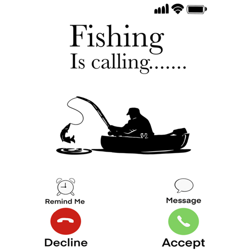 """Fishing Is Calling"""" - White Mug - Add your own text"""