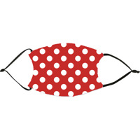 Red Polka Dots Face Mask