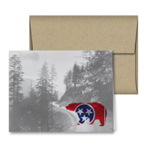 Tristar Bear Note Card