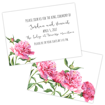 Pink Peonies<br>2.5x3.5 Insert #1<br>Double Sided