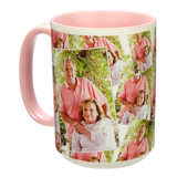15 oz. Tiled Ceramic Pink Photo Mug