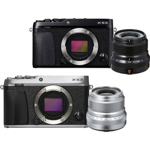 Fujifilm-X-E3 Mirrorless System Camera with XF 23mm F2 Lens-Digital Cameras