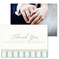 Vintage A - 2 Sided Thank You