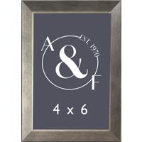 4x6 Black Slant w/ Silver