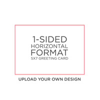 CREATE-A-CARD: 10PK 7X5 FLAT 1-SIDED CARDS