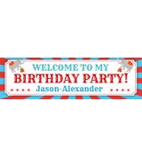 12 x 36 Birthday Circus Banner