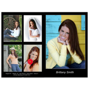 Headshot 8½x11 Single Side 5 Photos Black