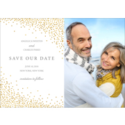 Confetti - 1 Sided Save the Date  5x7