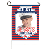Ahoy! B-Day Yard Flag with Stand