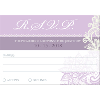 Lace A - 1 Sided RSVP