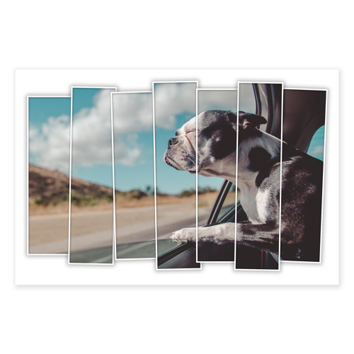20 x 30 - 7 Slices Metal print