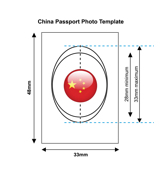 China Passport Photo Templates