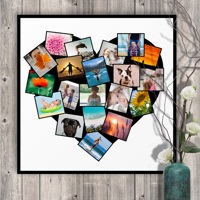 20 x 20 Heart Collage Print - 20 photos