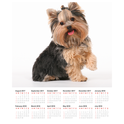 20x24 Poster Calendar with 1 Image.