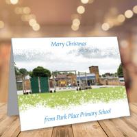 50 x A5 Landscape Snowy Christmas Cards