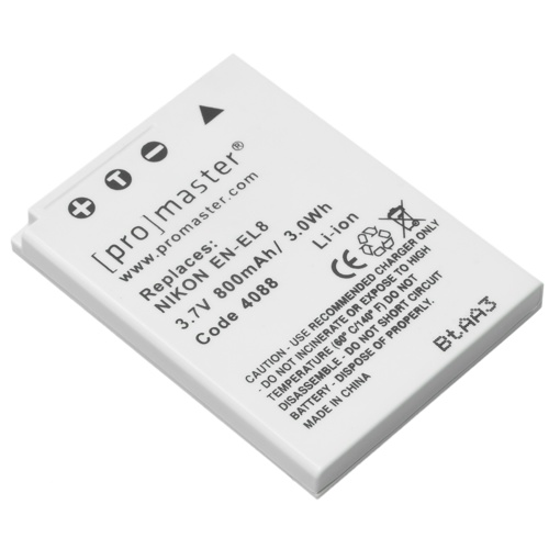 ProMaster-EN-EL8 XtraPower Lithium Ion Replacement Battery for Nikon #4088-Battery Packs & Adapters