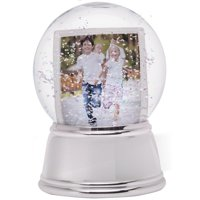 Silver Base Sphere Snow Globe