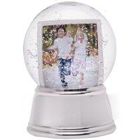 Silver Base Sphere Snow Globe