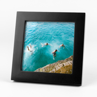 4x4 Black Frames w/ Prints 3pk