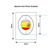 Spain Visa Photo Templates