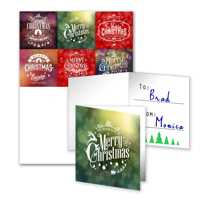 6 Gift Tags Folded - A