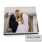 12x12 Flush Mount Hardcover Photo Book / Metallic Paper (22-30 Pages)