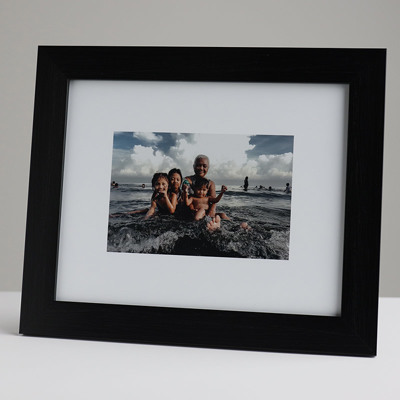 250x200mm Print in 30mm Black Frame with a 150x100mm image  (50mm white space on all sides)