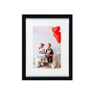 Soho 6x8 Frame Matted for 4x6 with 4x6 Print Bundle - Black