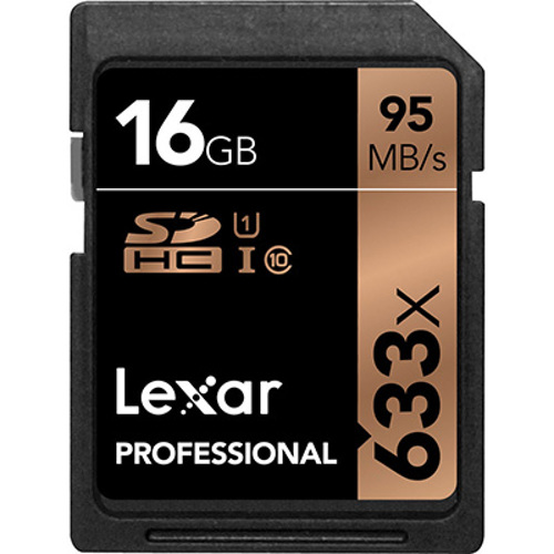 Lexar-Professional 633x SDHC UHS-I card - 16GB-Memory cards, tape and discs