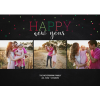 Neon Confetti Collage: 10pk New Year Cards