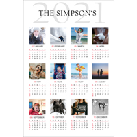 12 x 18 Poster Calender with 12 images - 2021