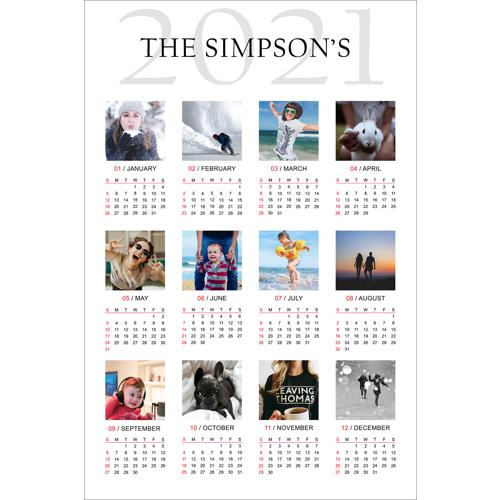 8.5 x 11 Magnet Calendar - 2021