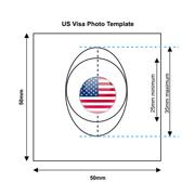 American Visa Photo Templates