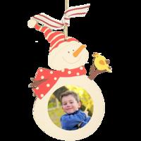 Wood Veneer Snowman Ornament