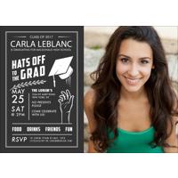 5x7 - Flat Photo Card - Hats Off Grad - 1 Sided