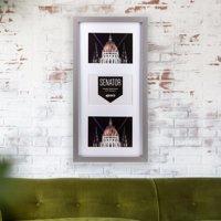 "Senator Grey Wood Frame for 3 4x6"" / 10x15cm"