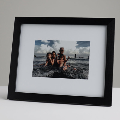 250x200mm Print in 20mm Black Frame with a 150x100mm image  (50mm white space on all sides)